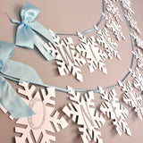 Winter Onederland Snowflake Banner in Blue and Silver.  Handcrafted in 1-3 Business Days.  Blue and Silver Party Decor.