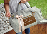 Women's Duffel Bag. (Qty 1.) Personalized Bridesmaid Gift. Overnight Bag For Women. Bridesmaid Bag.G20OB.