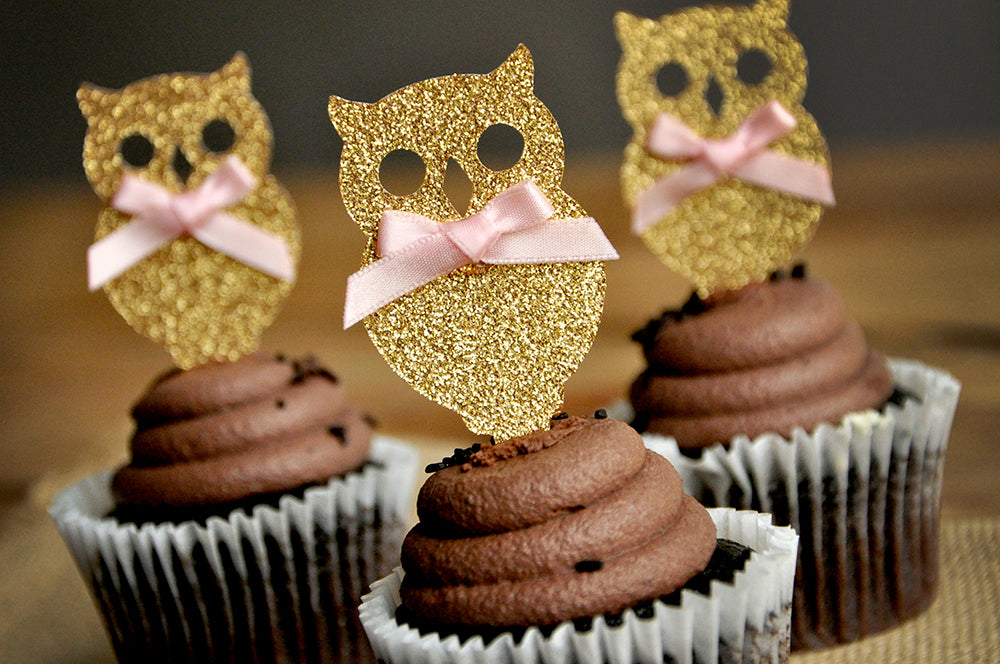 Owl birthday party owl confetti owl baby shower Look Who/'s One party Owl cake toppers adorable owl toppers owl cupcake toppers