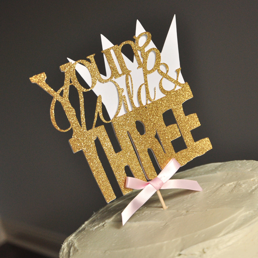 Young Wild and Three Party Decorations. Young Wild and Three Girl. Handcrafted in 1-3 Business Days. Cake Topper Birthday.