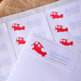 Airplane Birthday Invitation's Return Address Labels. We Print & Ship to You in 1-3 Business Days. Time Flies Return Address Stickers 30CT.