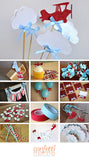 Airplane Party Decoration.  Ships in 1-3 Business Days.  Time Flies Wands.  Airplane and Clouds Centerpiece.  5 COUNT.