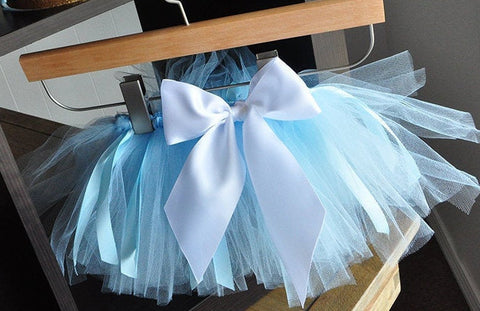 Elsa Costume. Baby Blue Tutu and Elsa Crown. Halloween Costume Girls. Princess Costume.