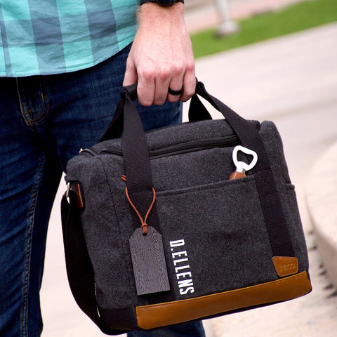 Pre-Order Only. Available Late-November. Gifts For Employees. Corporate Gift Ideas. Personalized Cooler Bag with Bottle Opener. (Qty. 1) G12WC.