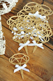 Bridal Shower Cupcake Toppers. Ships in 1-3 Business Days. Glitter Gold Diamond Cupcake Toppers with White Bows. 12CT.