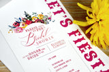 Fiesta Bridal Shower Invitations with Envelopes. We Personalize, Print, and Ship in 1-3 Business Days. Fiesta Party. Fiesta Invitation.