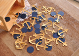 Nautical Baby Shower Decorations. Ships in 1-3 Business Days. Anchor Confetti 50CT.