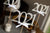 Silver 2021 Graduation Centerpiece Sticks with Bows. (3 Single - 2021 Wands). Made in 1-3 Business Days.  Graduation Centerpiece. 2021 Wands with White Bows.