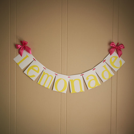 Pink Lemonade Party. Ships in 1-3 Business Days. Lemonade Stand Party Banner.