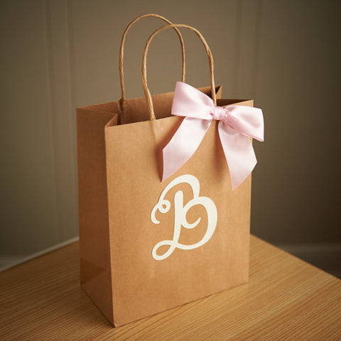 Gift Bags for Wedding Guests.  Ships in 1-3 Business Days.  Large Kraft Paper Bags with Handle.  Party Favor Bags.