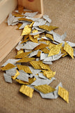 Gold Wedding Decor Confetti (10CT).  Ships in 1-3 Business Days.  Toss Packets.  Favor Bags.