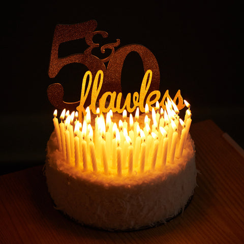 50 Flawless 50th Birthday Cake Topper Ships In 1 3 Business Days