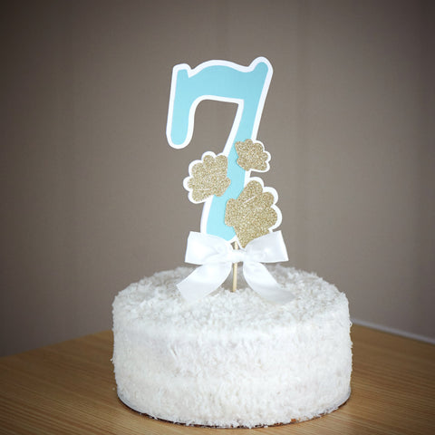 Under the Sea Cake topper.  Ships in 1-3 Business Days.  Number Cake Topper.  Mermaid Cake Topper.