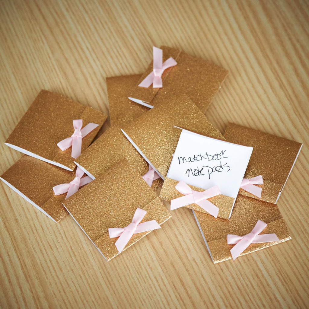 Party Favors for Women Matchbook Notebook.  Ships in 1-3 Business Days.  Mini Note Pad 10 CT.
