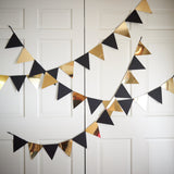 Bunting Banner for Black and Gold Party Decor.  Ships in 1-3 Business Days.  Pennant Banner.  Photo Backdrop.
