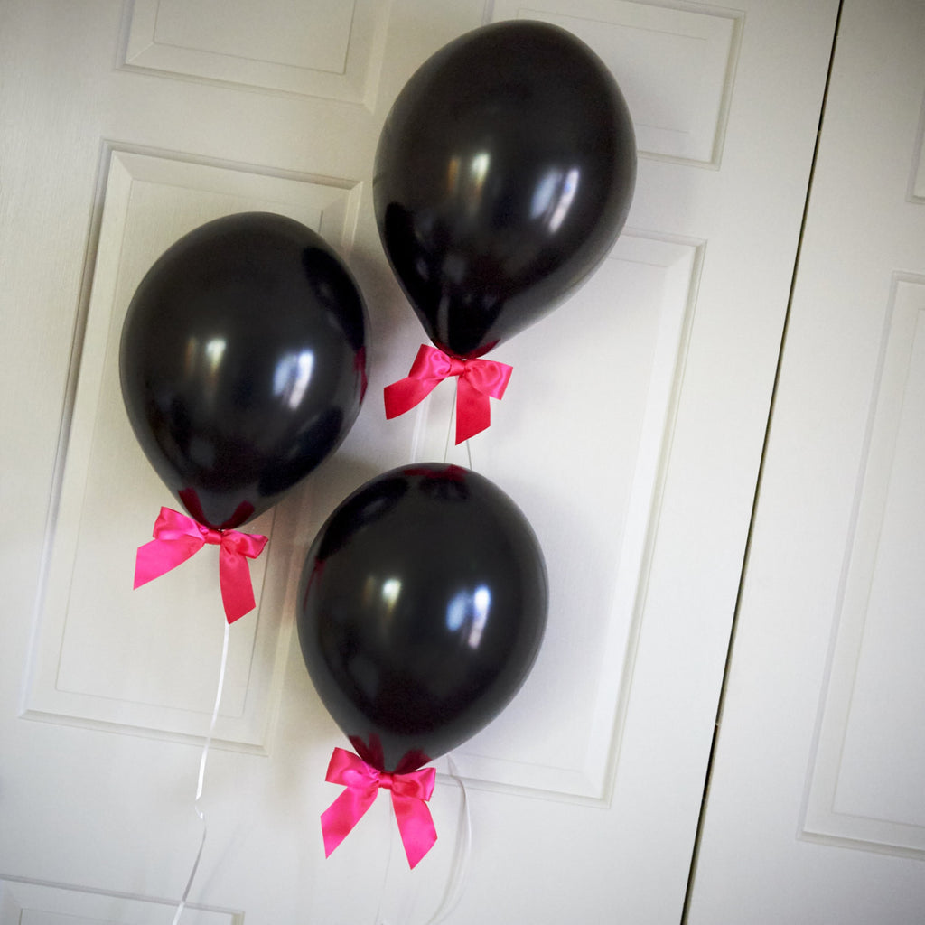 Sweet 16 Decorations Balloons with Bows 8CT + Curling Ribbon.  Ships in 1-3 Business Days.