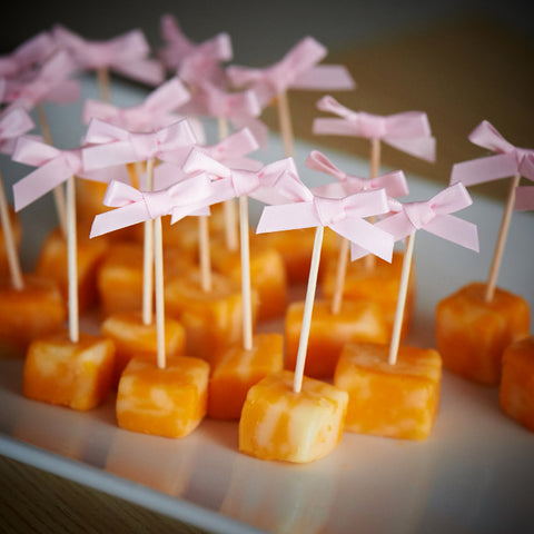 Food Picks for Princess Party.  Ships in 1-3 Business Days.  Bow Picks.  Appetizer Picks 20CT.