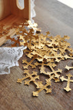 Baptism Decorations.  Ships in 1-3 Business Days.  Cross Table Confetti.  50 CT.