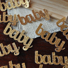 Baby Confetti for Baby Shower Table Decoration 25CT.  Ships in 1-3 Business Days.