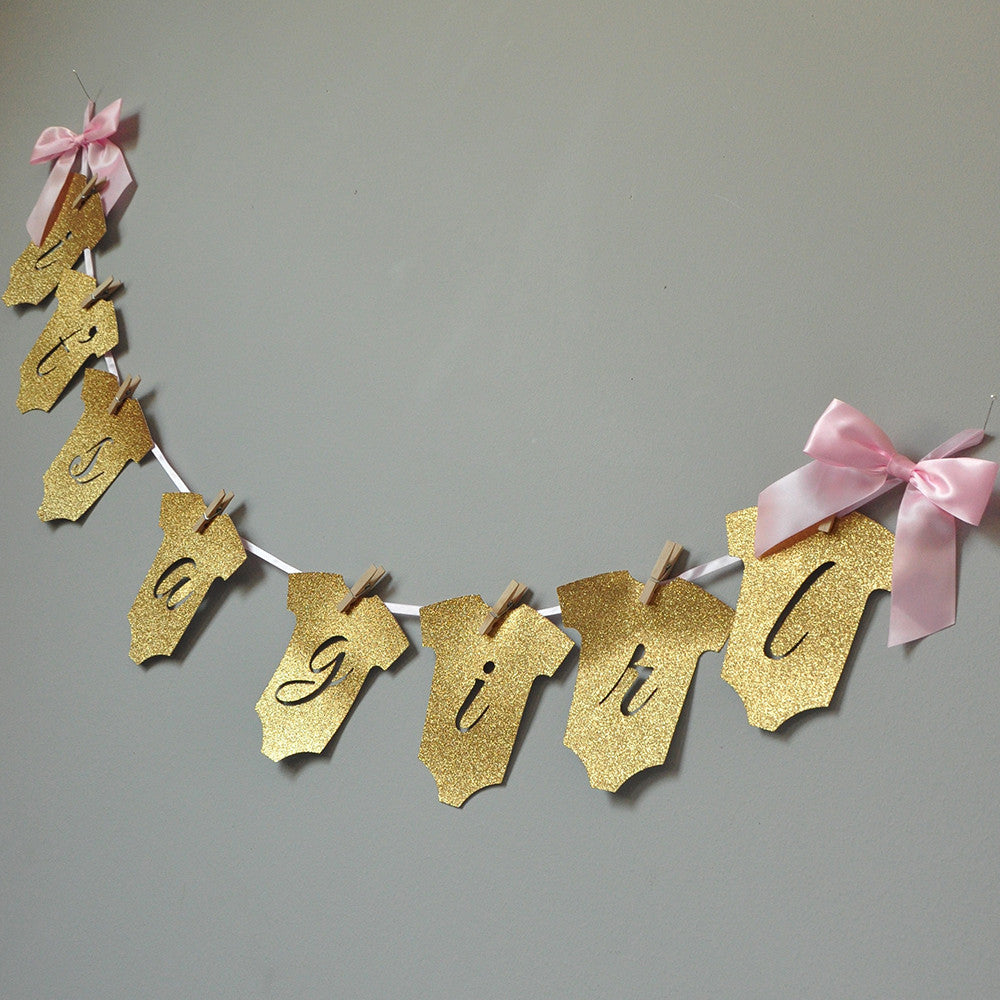 It's a Girl Banner. Ships in 1-3 Business Days. Baby Shower Party Decor. Baby Girl Banner.