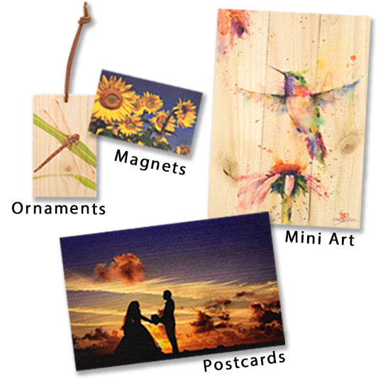 Magnets, Ornaments, Postcards, and Mini Art