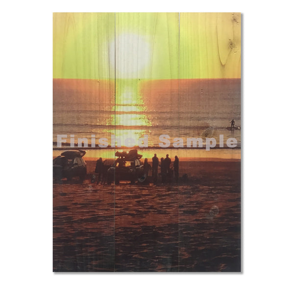 Sunset Image on Wood. Custom Photo Print