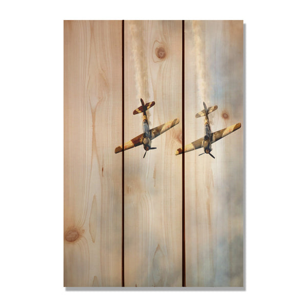Airplanes Custom Printed on Wood. Personalize Your Cedar Pallet Using Your Images