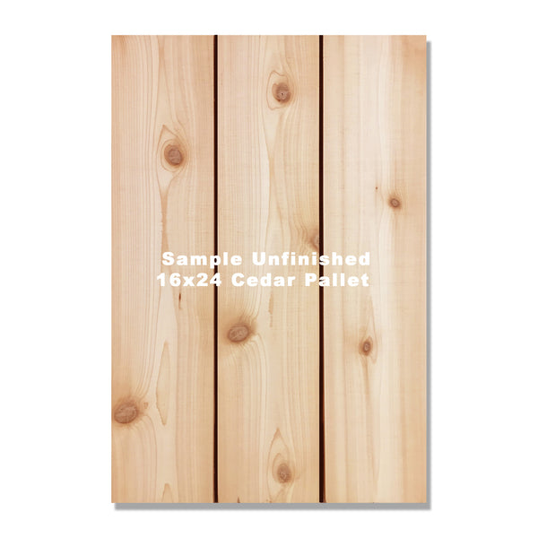 Print Your Images Onto Solid Cedar Pallets. Custom Printing