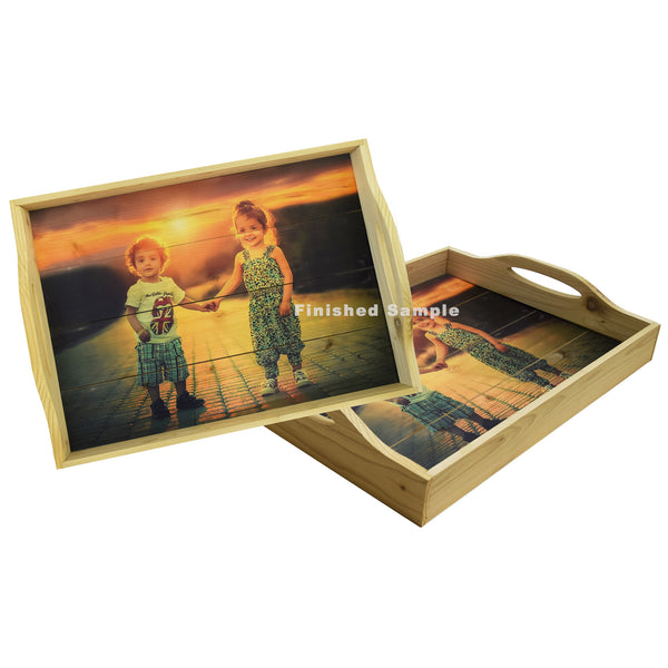 "21""x15"" Inside/Outside Cedar Drink Tray - Horizontal Image"