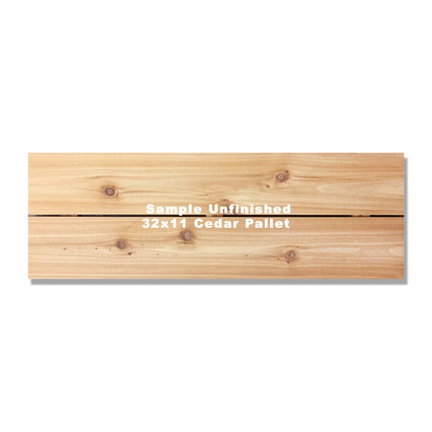 "32""x11"" (2 board) Inside/Outside Western Red Cedar Wall Art"