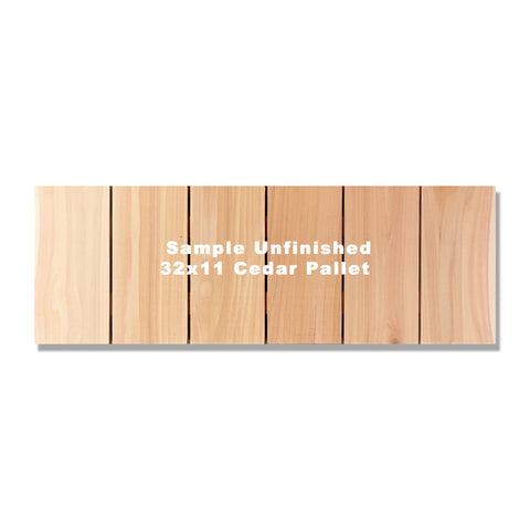"32""x11"" (6 board horizontal) Inside/Outside Western Red Cedar Wall Art"