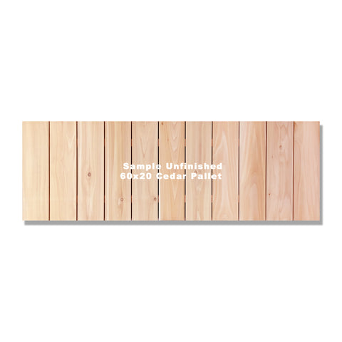 "60""x20"" Inside/Outside Western Red Cedar Wall Art"