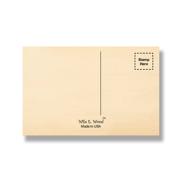 "Mailable Cedar Wood Postcards - Horizontal 5.5""x3.5"""