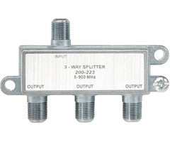 3-Way Full-Size 5–900 MHz TV F-Splitter