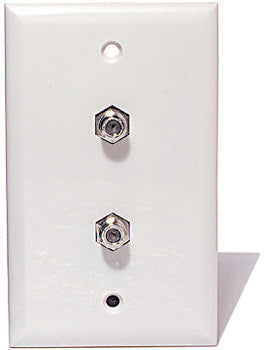 Dual F Connector Wall Plate