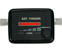 Satellite Finder with LED Bar Graph