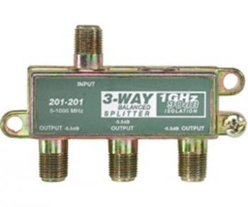 3-Way Balanced 1GHz 90dB Splitter