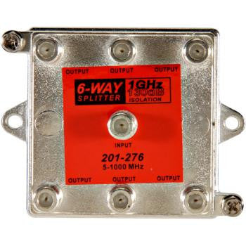 6-Way 1GHz 130dB Vertical Splitter