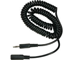10' Coiled 3.5mm Stereo Extension Cable