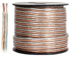 100' 14-Gauge Clear Jacket Speaker Wire