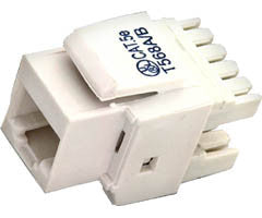 Cat 5e Keystone Jack - White - 10-Pack