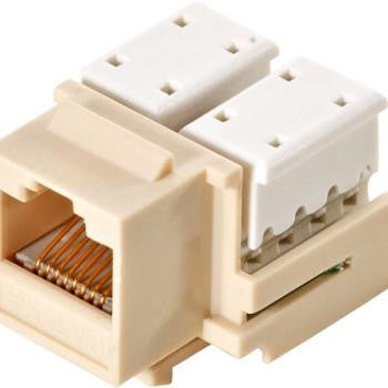 Ivory CAT5E Keystone Jack - 10-Pack