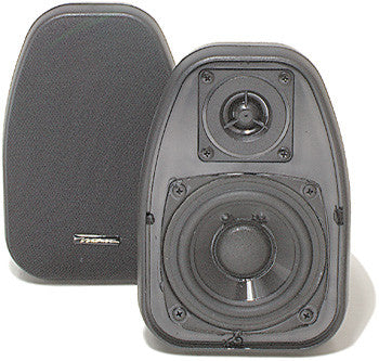 "3 1/2"" Black 2-Way Compact Shielded Speakers"