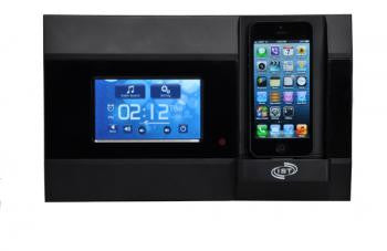 BLACK - In-wall Music System, Touchscreen, Bluetooth Streaming, iPod, mp3, USB