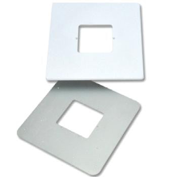 "WHITE - VERTICAL 8"" Retro Room Station Trim Plate and Adaptor"