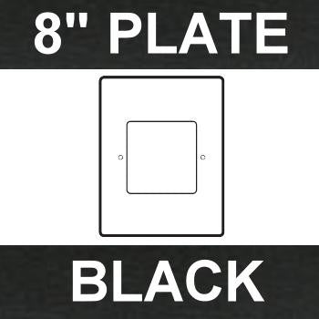 "BLACK - 8"" Plastic Trim Plate"