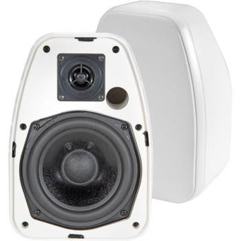 "5 1/4"" White 2-Way Indoor/Outdoor Speakers"