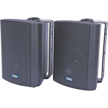 "Black 5.25"" 75-Watt 2-Way Outdoor Patio Speakers"