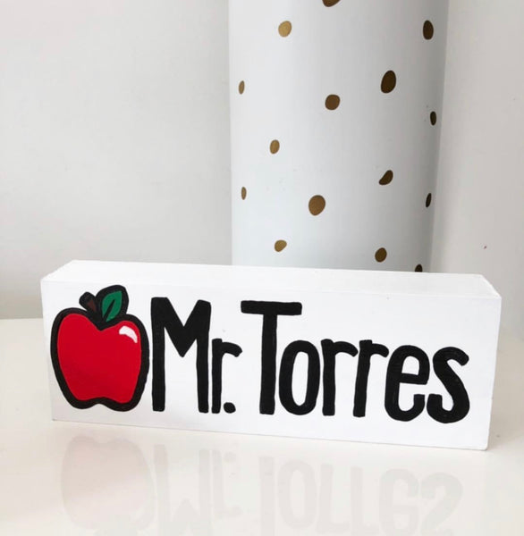Hand Painted Wooden Name Plaque