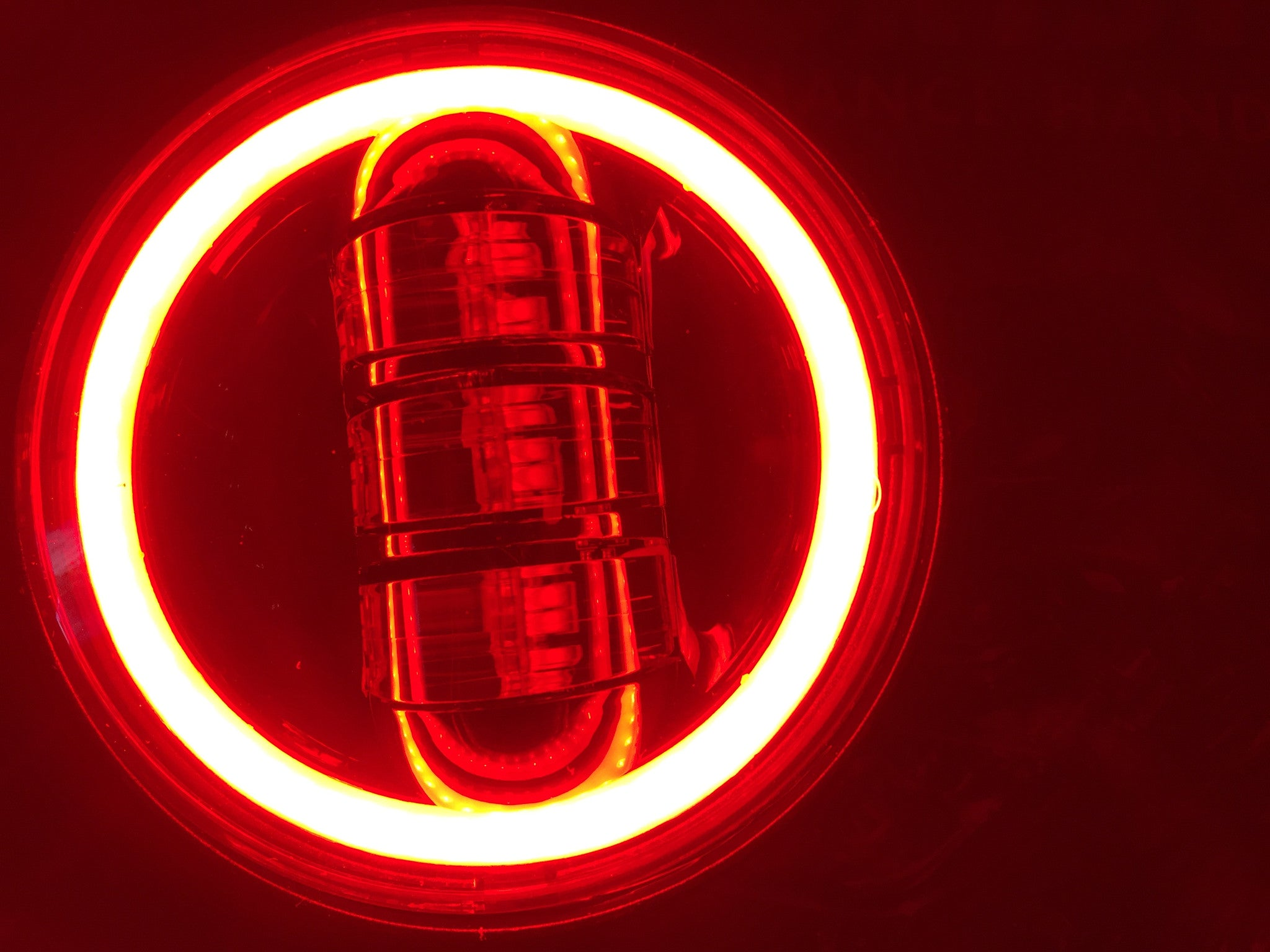 led p harley lighting motorcycle lll lights headlight lifetime round inch